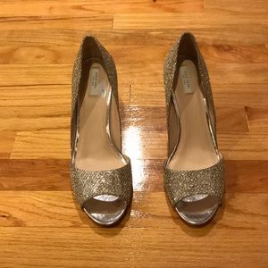 Cole Haan peep toe leather sparkle sandal sz 10